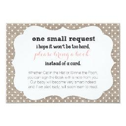 Coral & Burlap Dots  Book Request