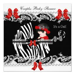 Couples  Girl Zebra Red Lace Black