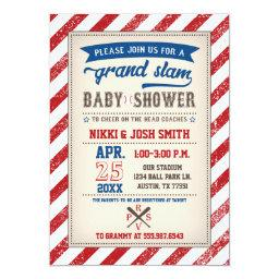 Couples Coed Baseball Baby Shower Vintage