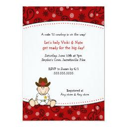 Cowboy Baby Shower  Red Bandana