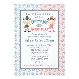 Cowboy or Cowgirl Gender Reveal Party Invitations