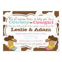 Cowboy or Cowgirl Gender Reveal Shower
