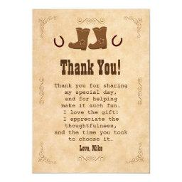 Cowboy Thank You  Western Old Style Vintage