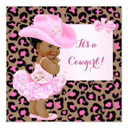 Cowgirl  Pink Leopard Girl Ethnic