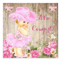 Cowgirl  Pink Rustic Wood Girl Blonde