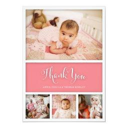 Custom Color Baby First Thank You Photo