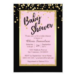 Custom Trendy Pink Black Baby Shower
