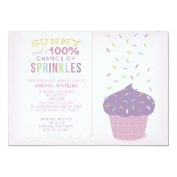 Customizable Pink Cupcake Baby Sprinkle