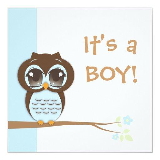 Cute Baby Owl It's a Boy