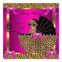 Cute  Baby Girl Leopard Pink Gold