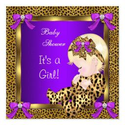 Cute  Baby Girl Leopard Purple Gold 3