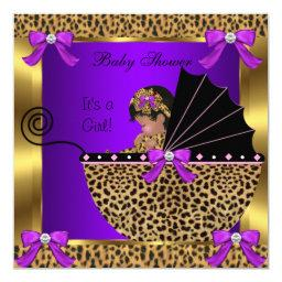 Cute  Baby Girl Leopard Purple Gold