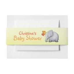 Cute Balloons Elephant Gender-Neutral   Belly Band