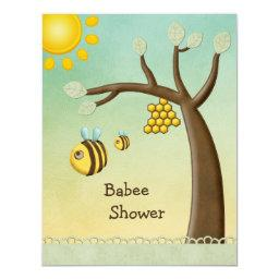 Cute Bees, Tree & Hive Babee Shower
