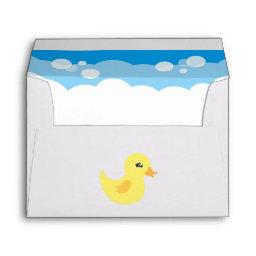 Cute Boy Rubber Ducky Baby Shower Envelope
