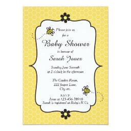 Cute Bumble Bee Themed Baby Shower