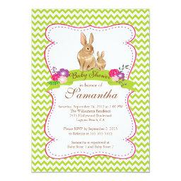 Cute Bunny Rabbit Baby Shower