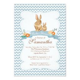 Cute Bunny Rabbit Boy Baby Shower