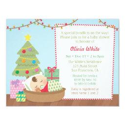 Cute Christmas Sleeping Baby Shower