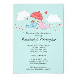 Cute Couple Love Birds Baby Shower