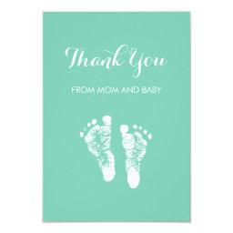 Cute Custom Color Baby Footprints Thank You