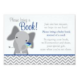 Cute Elephant Chevron Navy Blue  Book