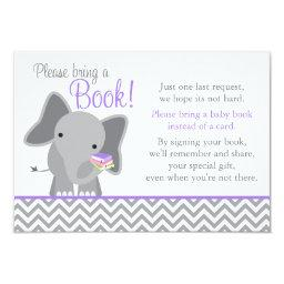 Cute Elephant Chevron Purple Girl  Book
