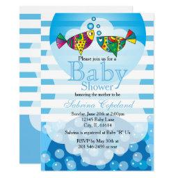 Cute Fishy Bubbles Baby Shower Theme