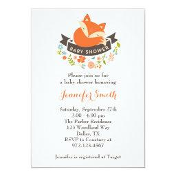 Cute Fox Baby Shower