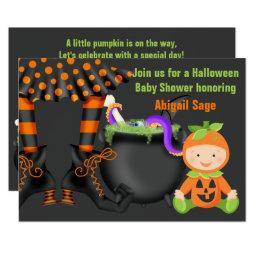 Cute Halloween Pumpkin  Neutral Invite