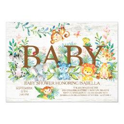 Cute Jungle Animals Neutral Baby shower