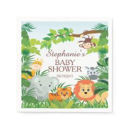 Cute Jungle Safari Animals  Napkins