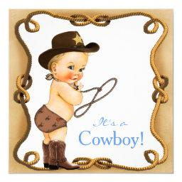 Cute Little Cowboy Baby Shower