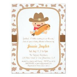 Cute Little Cowboy Western Baby Shower