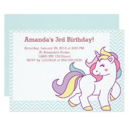 Cute Magical Unicorn Pastel GIRL Animals Birthday