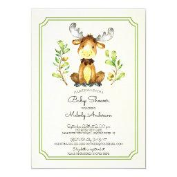 Cute Moose Woodland Baby Shower