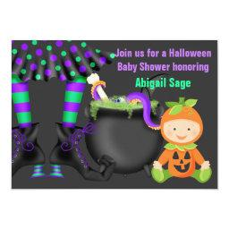 Cute Neutral Halloween Pumpkin  Invite