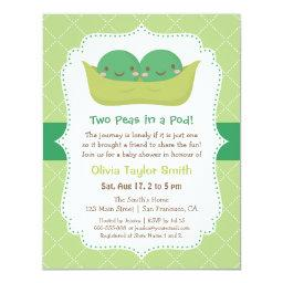 Cute Peas in a Pod Twin Baby Shower