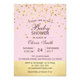 Cute Personalized Pink Gold  Invites