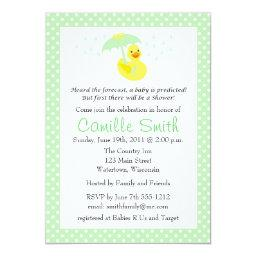 Cute Rubber Ducky Baby Shower