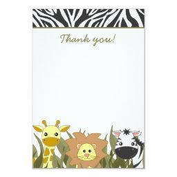 Cute Safari Jungle Baby Shower Flat Thank You