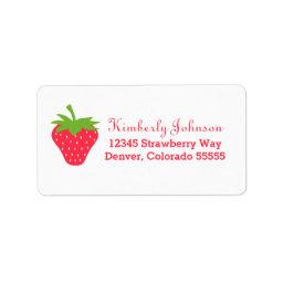 Cute Strawberry Label