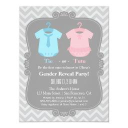 Cute Tie or Tutu Gender Reveal Party