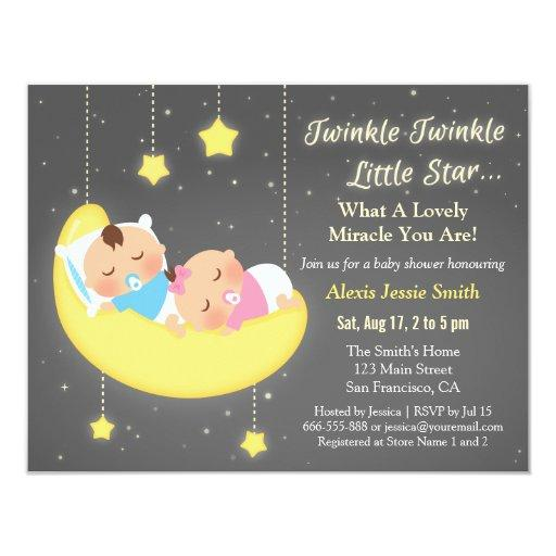 Twinkle Twinkle Little Star Baby Shower Invitations for luxury invitations sample