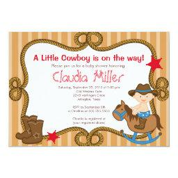 Cute Western Cowboy Baby Shower