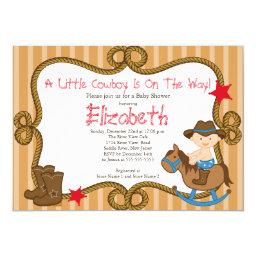 Cute Western Little Cowboy Baby Shower