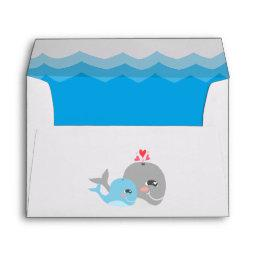 Cute Whale Boy  Envelope
