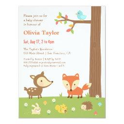 Cute Woodland Animal Baby Shower