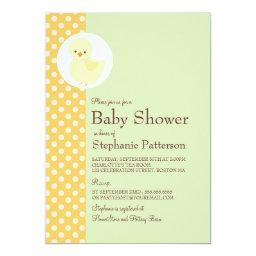 Cute Yellow Ducky Polkadot Baby Shower Tea Party
