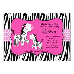 Cute Zebra Prints Stripes  Invitaitons